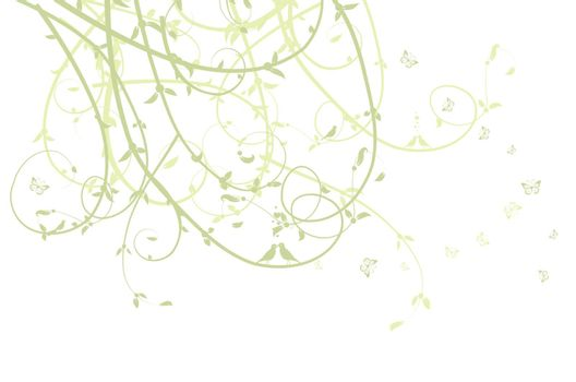 Leaf green silhouette for your design