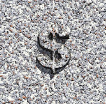 stone texture with dollar sign - 3d illustration