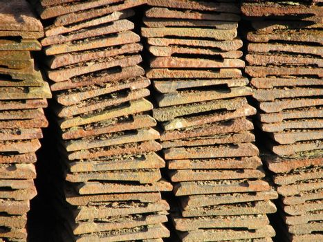 Piled Tiles Background