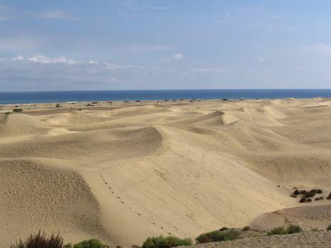 White Sand Dunes o Canary Islands
