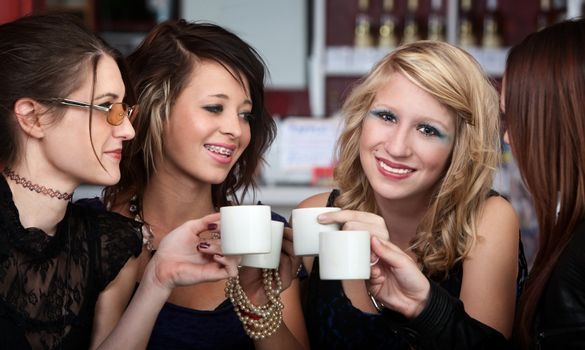 Young teens at Coffee House