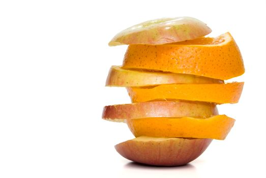 A selection of fresh Apple and Orange Slices.