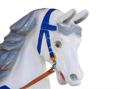 Head of an Old Merry-Go-Round Horse