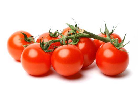 cherry tomato isolated on white background