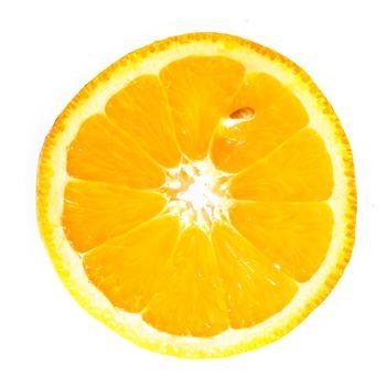 orange slice macro close up
