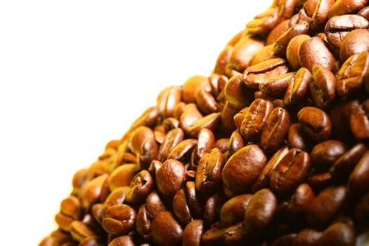 coffee beans detailed macro close up