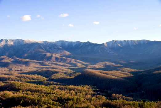 The view of the Appalachian mountains of the eastern United States.