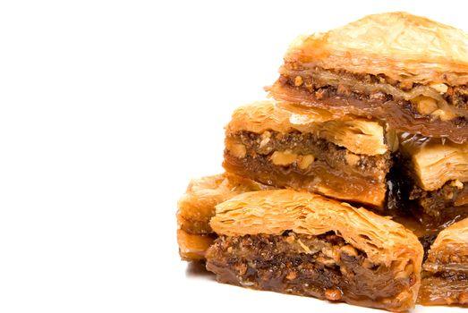 The delicious gourmet dessert known as baklava.