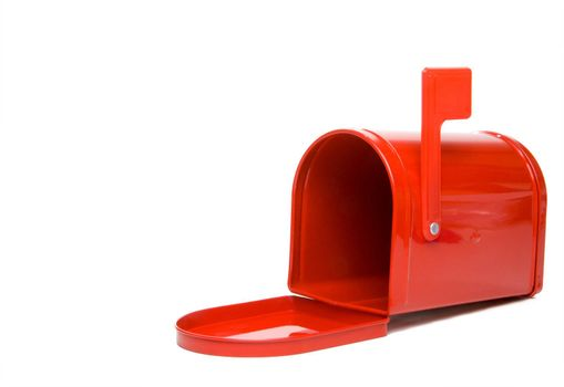A postal mailbox ready for mail and packages.