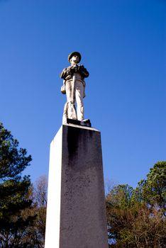 A Confederate Statue from the post civil war era.