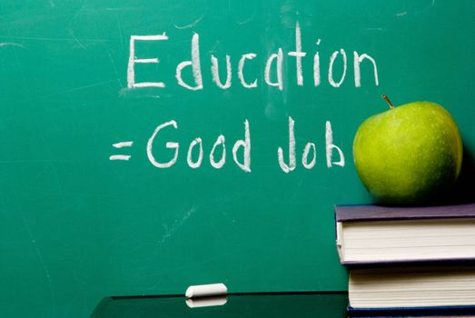 The concept that staying in school equates to getting a good job.