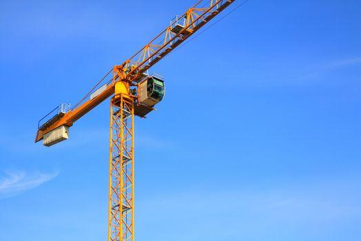Crane. Construction site