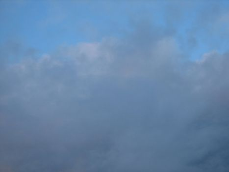 Sky with rainclouds, usable as background