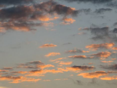 evening sky with clouds, usable as background