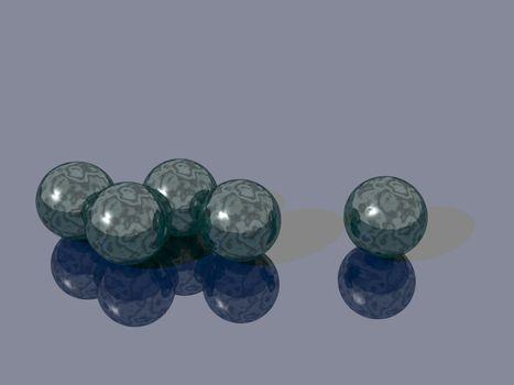 glass balls - 3d illustration