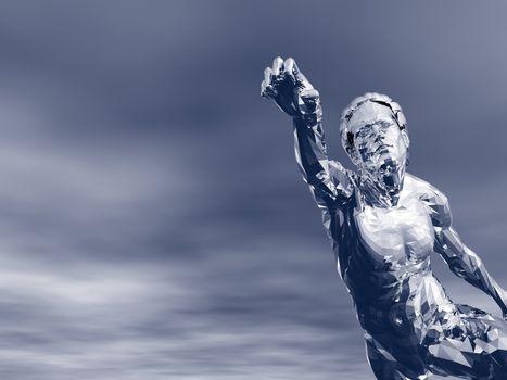abstract man figure - 3d illustration