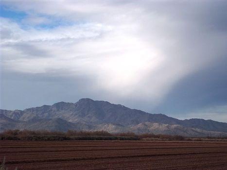 2216 - Rain Over Estrella Mt AZ