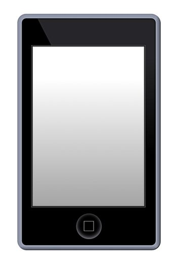 Illustration of a MP3 Phone Player on white background.