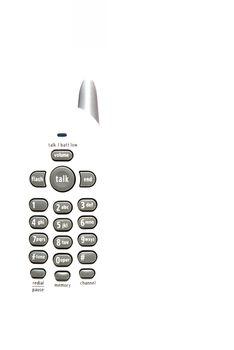 A modern home style cordless digital telephone.