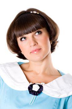 attractive brunet woman