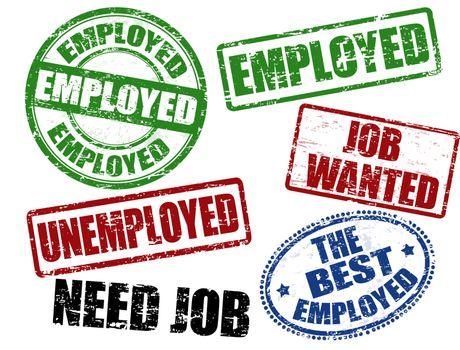 employed stamp