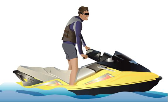 Walk on a water motorcycle