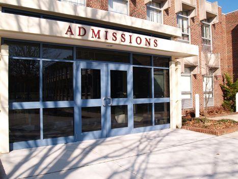 college admissions building