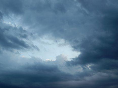 Stormy weather sky