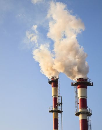 Air Pollution - Smoke from Chemical Plant polluting the air