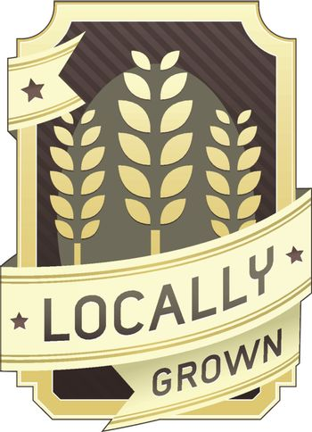 Locally grown food or product label
