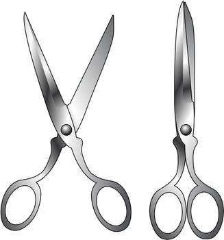Steel household scissors