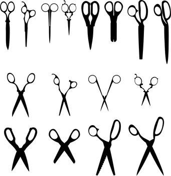 Household scissors set