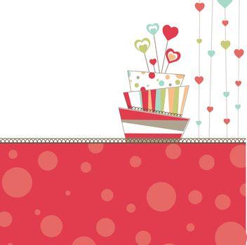 Valentine's background with cake