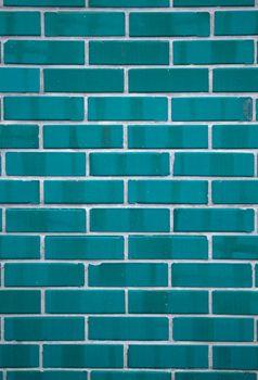Blue rectangular ceramic tiles