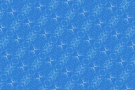 Blue abstract kaleidoscope background.