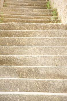 carved stone steps