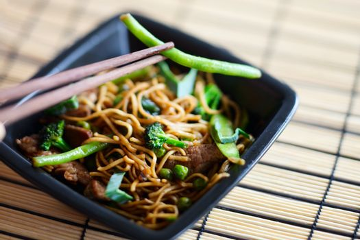 Delicious meat wok