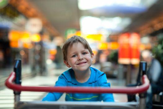 Boy at airport