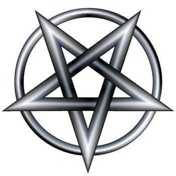 Stainless steel pentagram