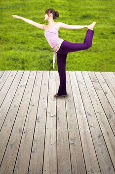 pretty young girl Practice yoga