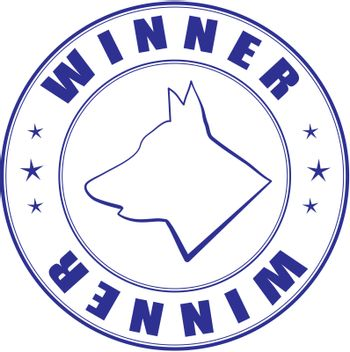 Vector sketch of stamp for certificate of canine club