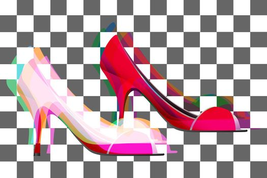 illustration of fancy shoes for ladies