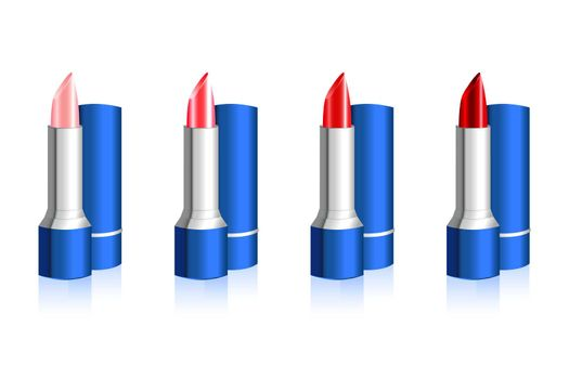 illustration of lip stick on white background
