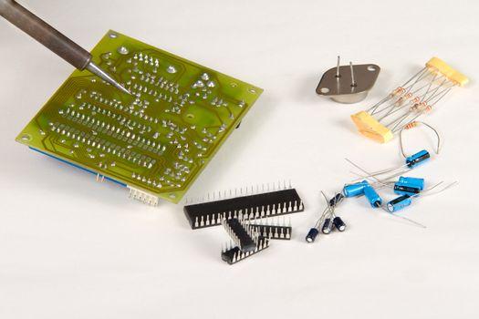 Engineer repairing circuit