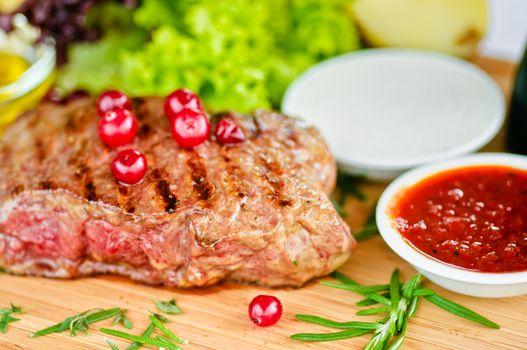 Steak & vegetables