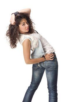 Foto of a posing girl