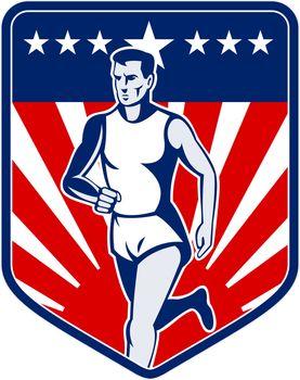 American Marathon runner stars and stripes
