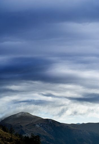 beautiful clouds and mountain