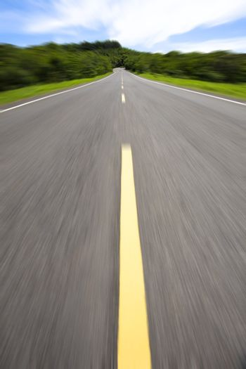 High speed and empty road