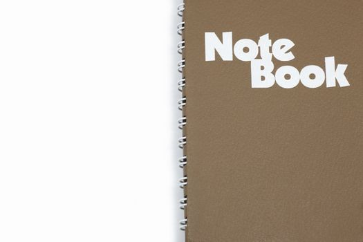 The cover of notebook isolated on white